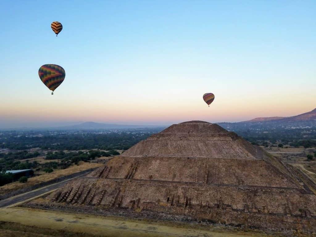 Tour en montgolfière à Teotihuacan