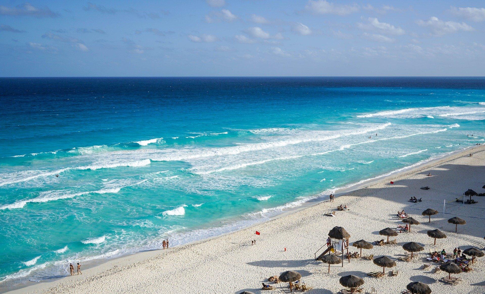 Cancun plage Mexique janvier climat