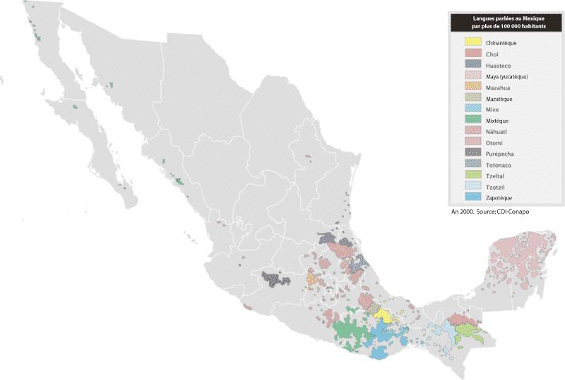 Les langues parlées au Mexique
