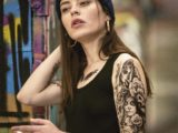 tatouage santa muerte femme