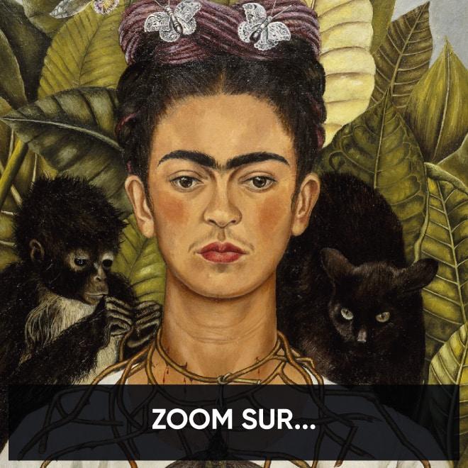 Autoportrait au collier d'épines et colibri de Frida Kahlo