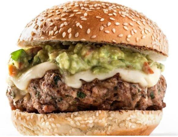 Burger à la dinde et Guacamole