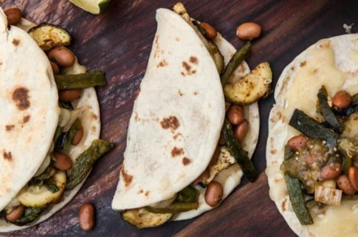 Fajitas Veggie grillé au Brasero mexicain