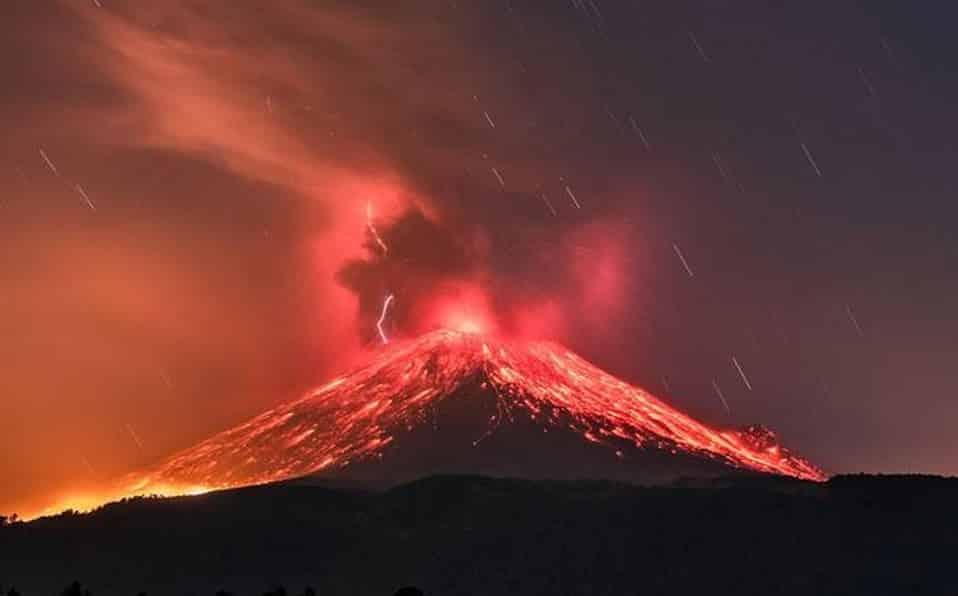 éruption d'El Popo - Popocatépetl
