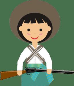 Les costumes des Adelitas révolutionnaires
