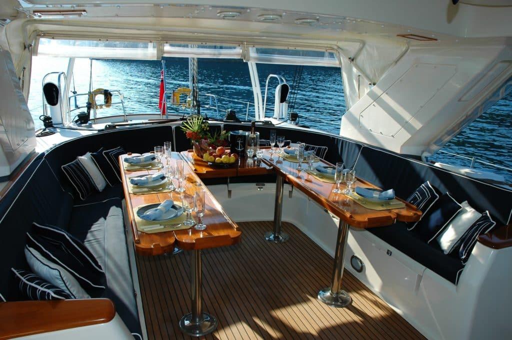 Fête dans un yacht à Cancun au Mexique