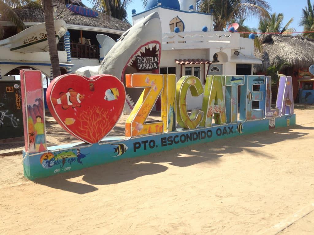 Les activités : Playa Zicateca plage
