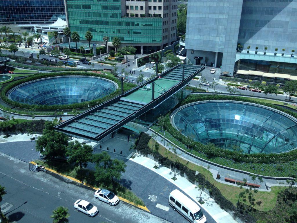 Centre commercial du quartier Santa Fe à Mexico