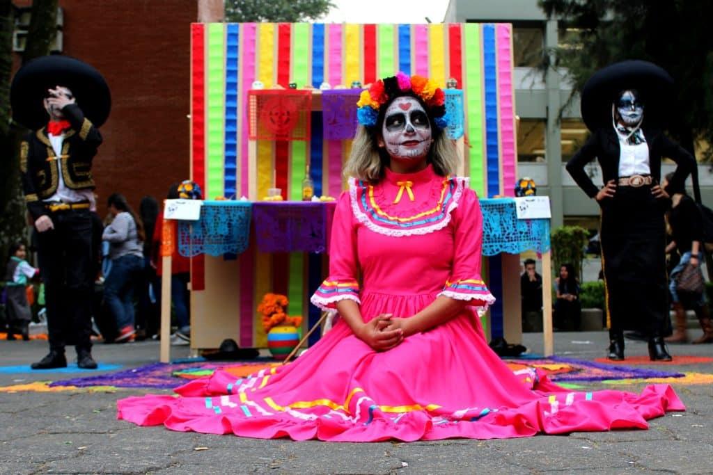 Maquillage femme, halloween Mexique