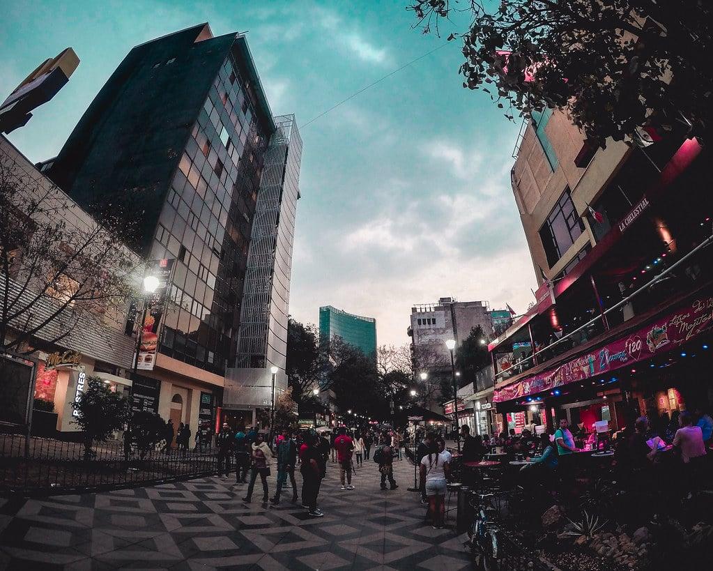 Quartier Zona Rosa à Mexico