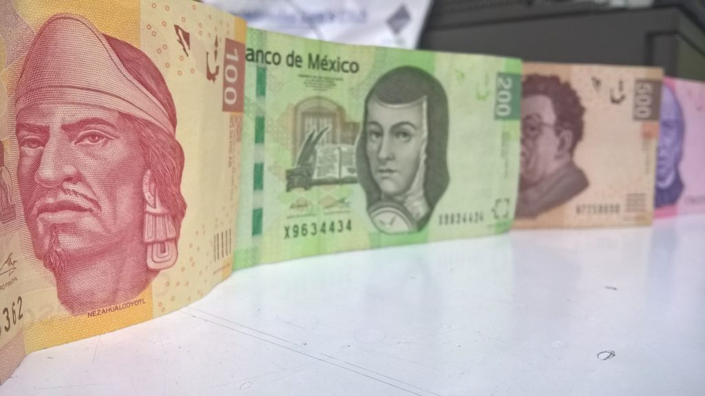 Billets pesos mexicains