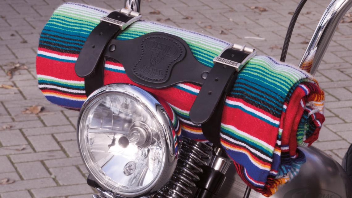 Plaid mexicain pour moto