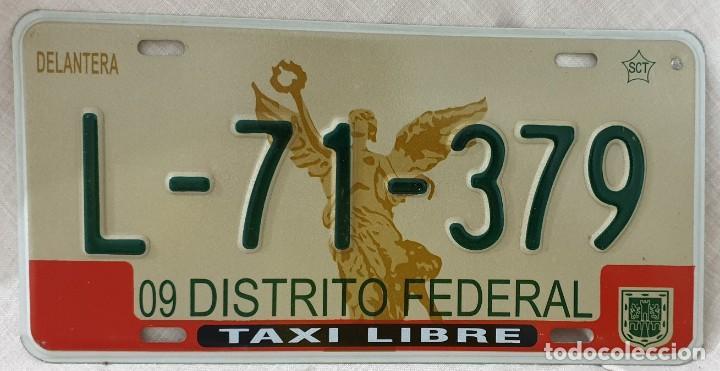 Plaque d'immatriculation de Mexico City