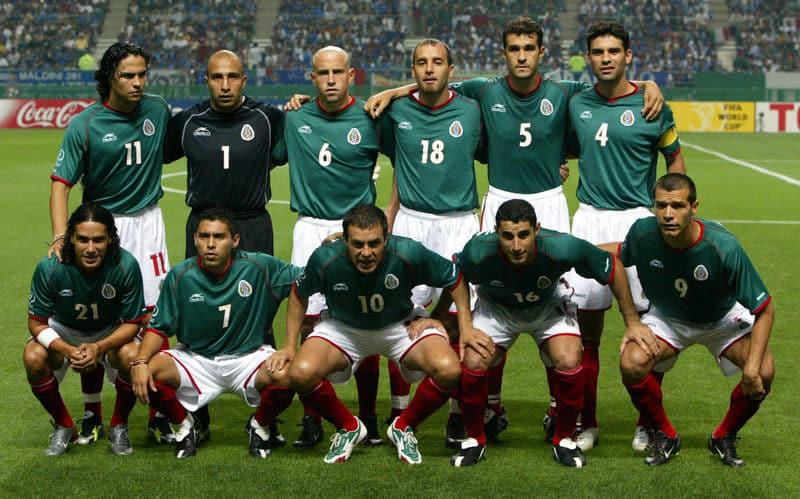 Coupe du monde 2002 équipe mexicaine Corée-Japon