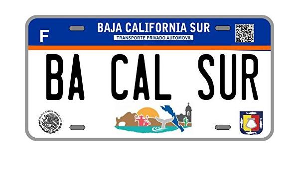 Plaque d'immatriculation de Baja California Sur