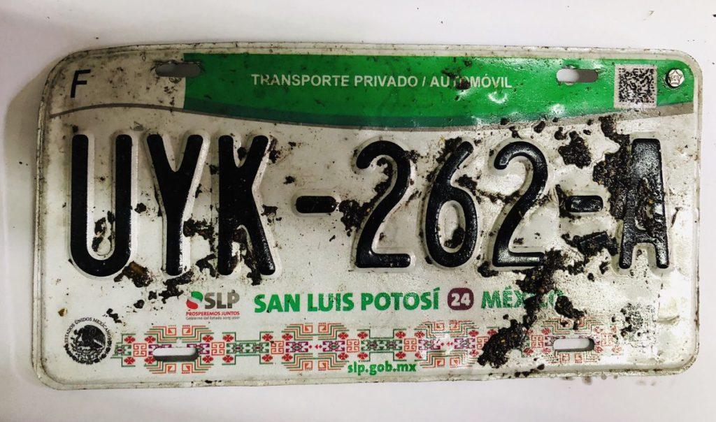 Plaque d'immatriculation de San Luis Potosi