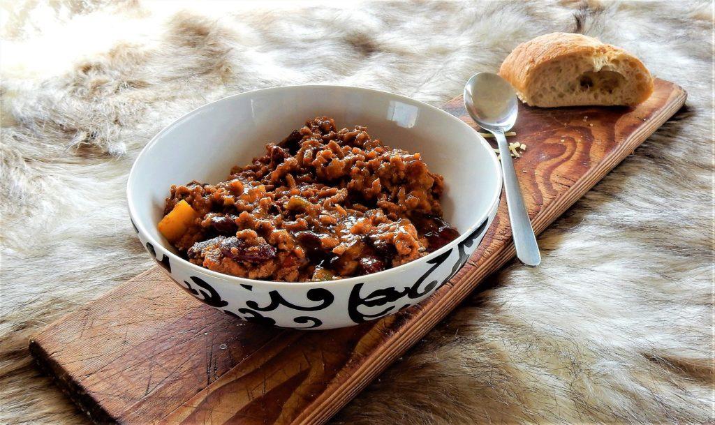 Chili con carne avec du pain de maïs