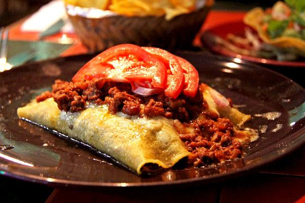 Chili con carne avec tortilla Wraps