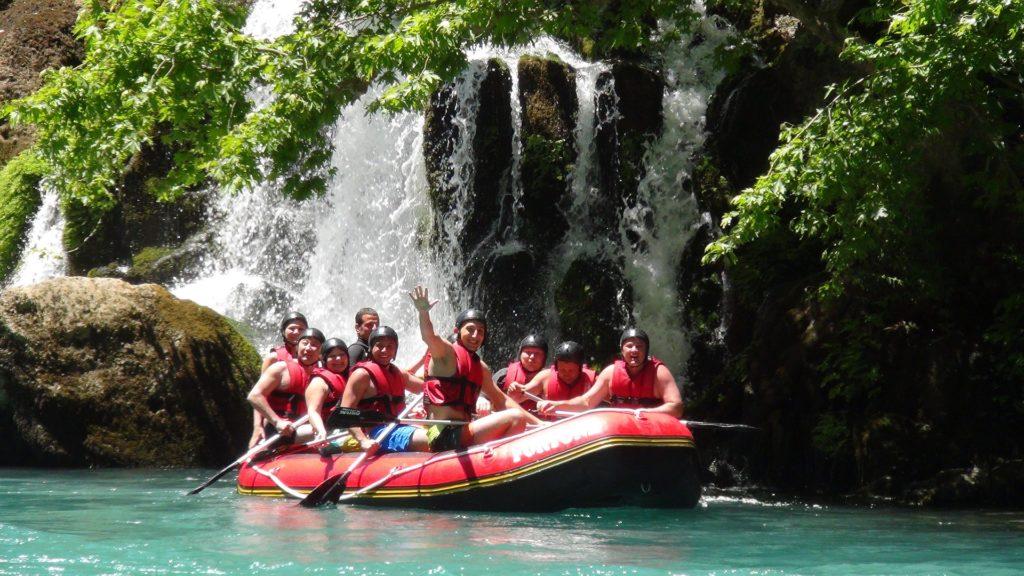 Rafting eau turquoise Mexique
